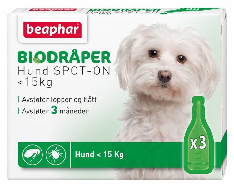 Beaphar Bio Spot On dråper til hund opptil 15 kg