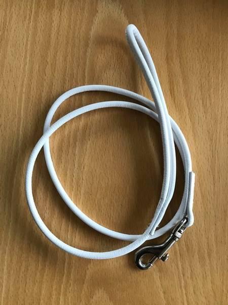 Hvitt rundsydd skinnkobbel 100 cm