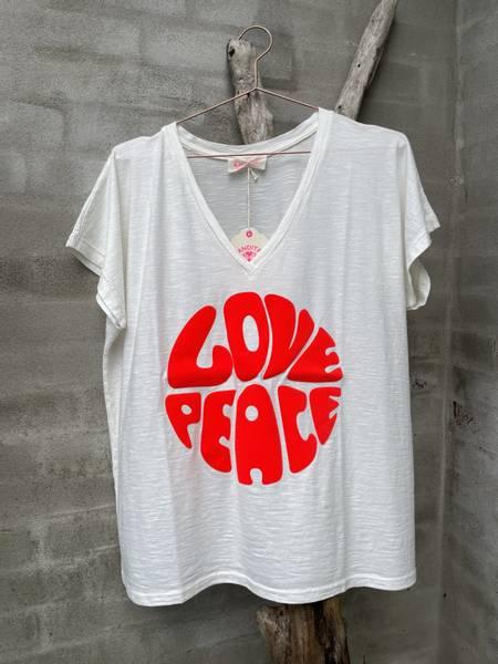 Love & Peace Tee Hvit/Orange