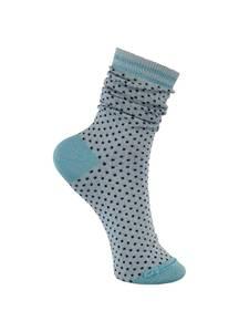 Bilde av Black Colour Lolly Dot Sock Sky Blue