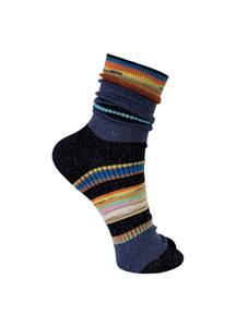 Bilde av Black Colour Yoko Stripe Sock Navy