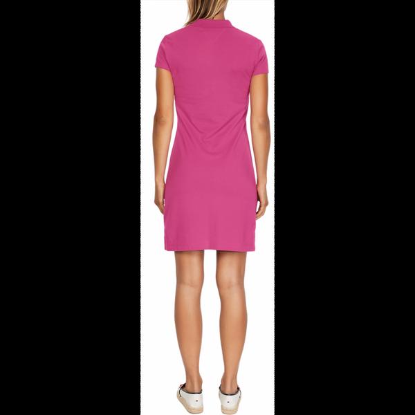 Tommy Hilfiger New Chiara Polo Piquet Dress Fuchsia Red