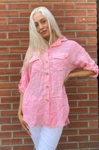 Bilde av Pepper Linskjorte Babyrosa