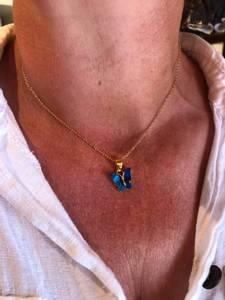 Bilde av NoraNorway Butterfly Neck 42 Gold Turquoise