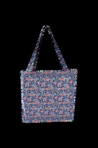 Bilde av Black Colour Lulu Cotton Shopper Blue Blossom