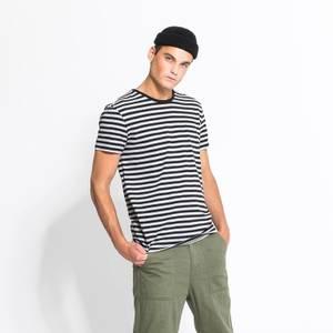 Bilde av Mens Collection Tskjorte Bomull Sort Stripet