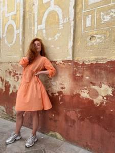 Bilde av Black Colour Frigg Short Dress Peach
