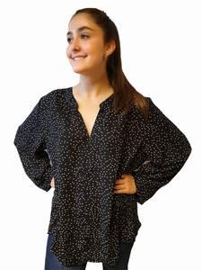 Bilde av Eurasia Collection Plus Size Skjorte Sort