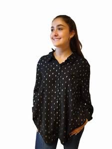 Bilde av Eurasia Collection Plus Size Skjorte Black