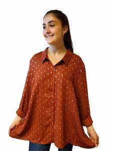 Bilde av Eurasia Collection Plus Size Skjorte Rust