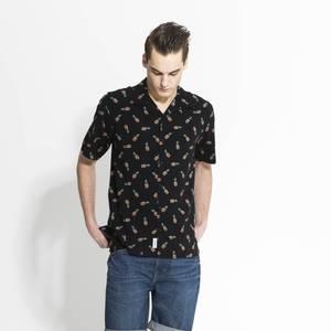 Bilde av Mens Collection Sommerskjorte Sort Ananas