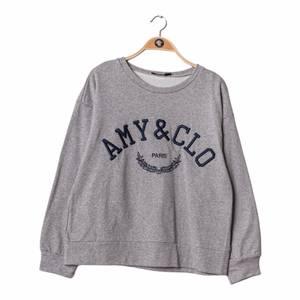 Bilde av Amy & Clo Embroidery Sweatshirt Grey