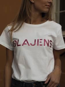 Bilde av Olajens Elisabeth T-Shirt Cerise Logo