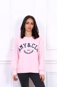 Bilde av Amy & Clo Embroidery Sweatshirt Pink