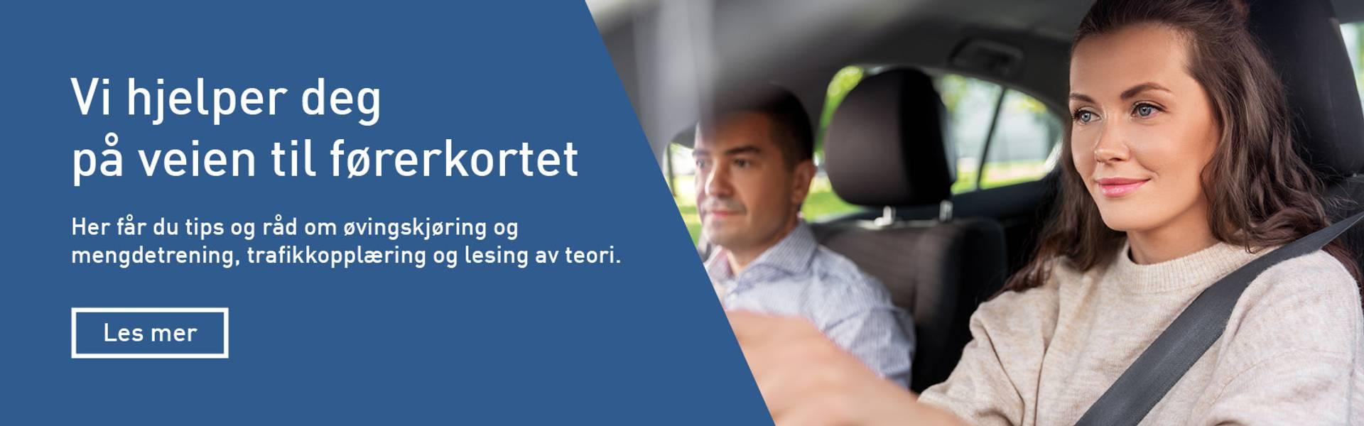 Vi hjelper deg på veien til førerkortet