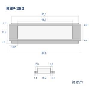 Bilde av RetroSound #282, frontrute Redondo (88,5 x 16,2mm)