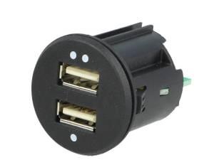 Bilde av USB innfellingskontakt 2x (ø 28/33mm)