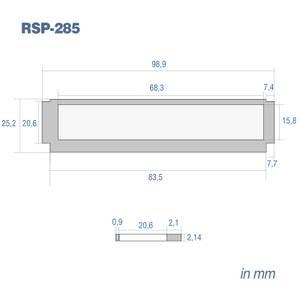 Bilde av RetroSound #285, frontrute Redondo (98,9 x 25,2mm) flat type