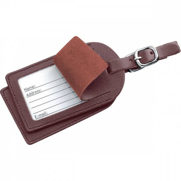 2 LEATHER LUGGAGE LABELS