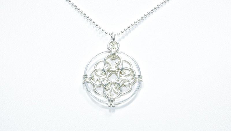 Bilde av Sirkel halssmykke i sølv