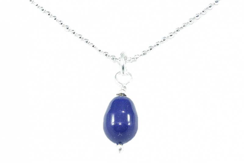 Bilde av Dråpe halssmykke i blått