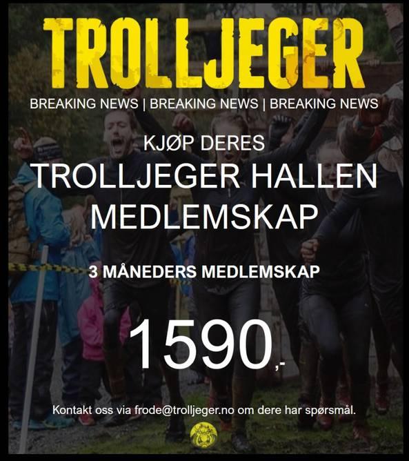 Bilde av Trolljeger Treningssenter 3 måneder medlemskap.