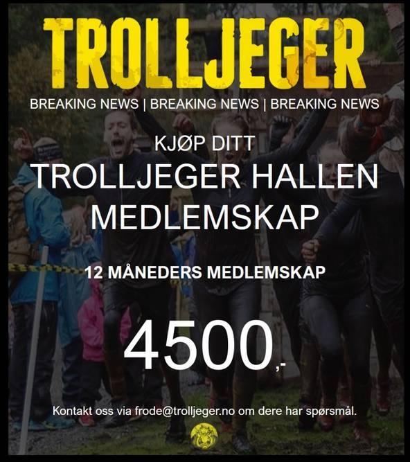 Bilde av Trolljeger Treningssenter 12 måneder medlemskap.