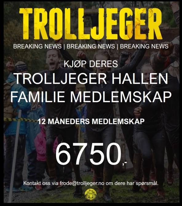 Bilde av Trolljeger Treningssenter 12 måneders FAMILIE