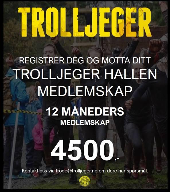 Bilde av Trolljeger Treningssenter 12 måneder medlemskap -