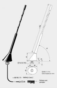 Bilde av ANTENNENSYSTEME DAB-antenne - Fakra Passiv antenne for montering