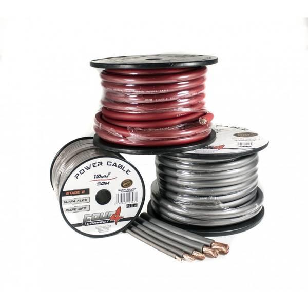4 CONNECT 10mm2 Rød 1meter