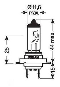 Bilde av Glødelampe Osram H7 24V 70W