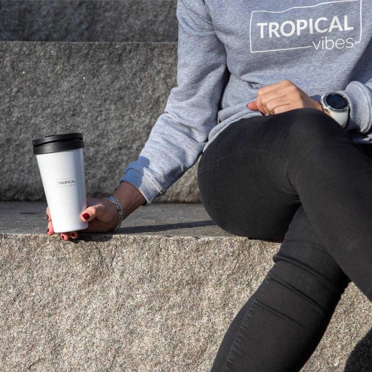 Termo Kaffekopp TO GO 400ml - Tropical Vibes - Rustfritt Stål