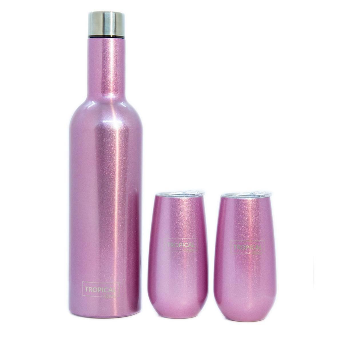 Tropical ChampagneSett - Sparkling Pink - Plain
