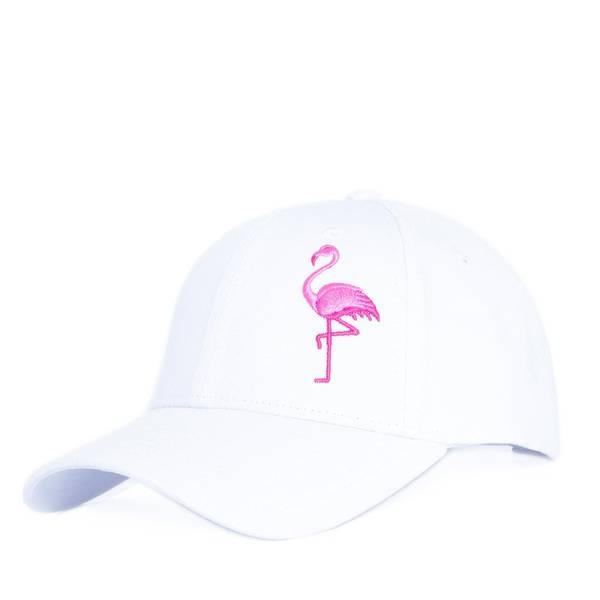 Bilde av Baseball Caps - Flamingo - Hvit
