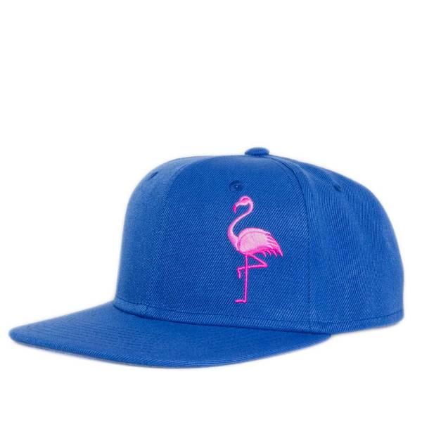 Bilde av Flat Snapback Caps - Flamingo Blå