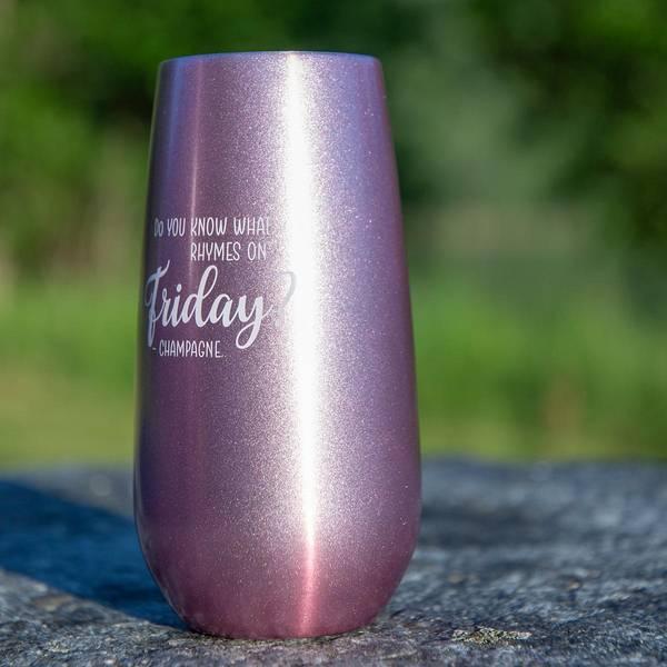 Bilde av Termo ChampagneKopp - 180ml - Sparkling Pink - Rhymes on Friday