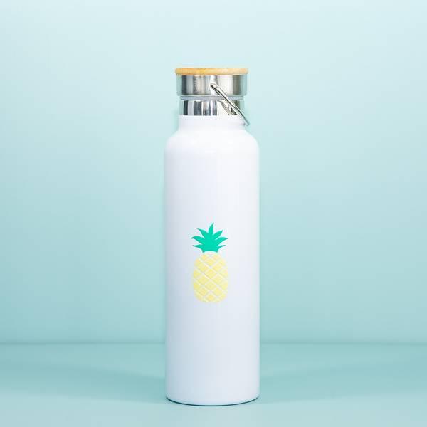Bilde av Drikkeflaske Ananas 600 ml - Rustfritt Stål