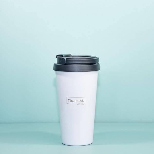 Bilde av Termo Kaffekopp TO GO 400ml - Tropical Vibes - Rustfritt Stål