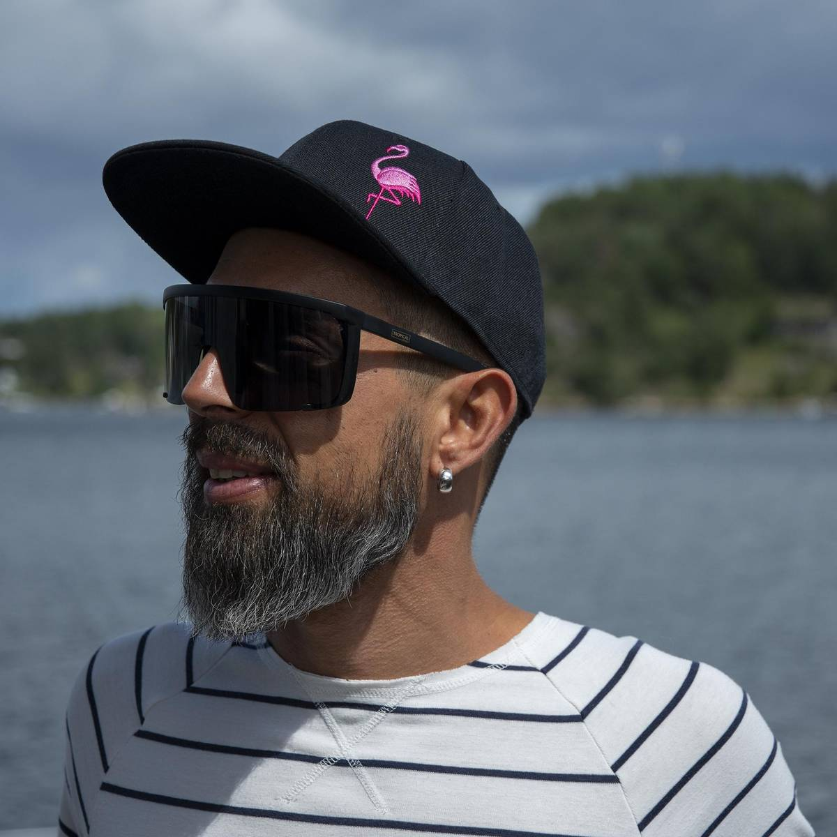 Flat Snapback Caps - Flamingo Sort