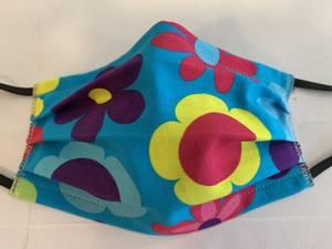 Bilde av Munnbind fargerike blomster