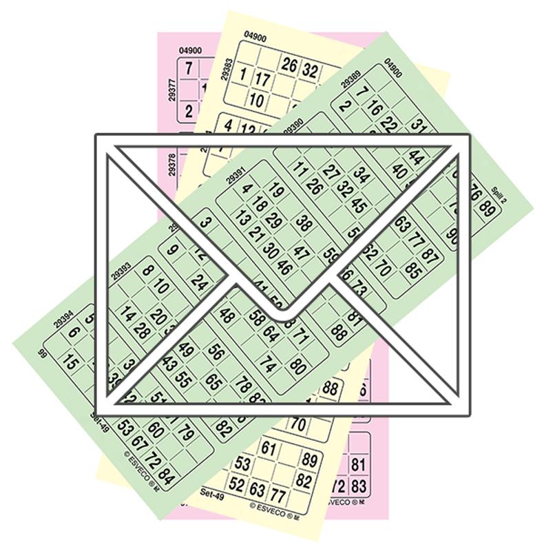 Bilde av Blokkker for TV-Bingo - Motta som brevpost