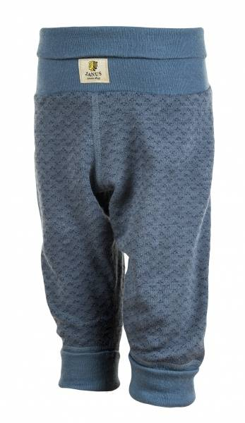 Bukse m/jacquard blå