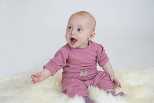 Body Babywool Janus rosa