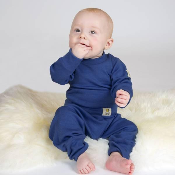 Bukse Babywool Janus blå
