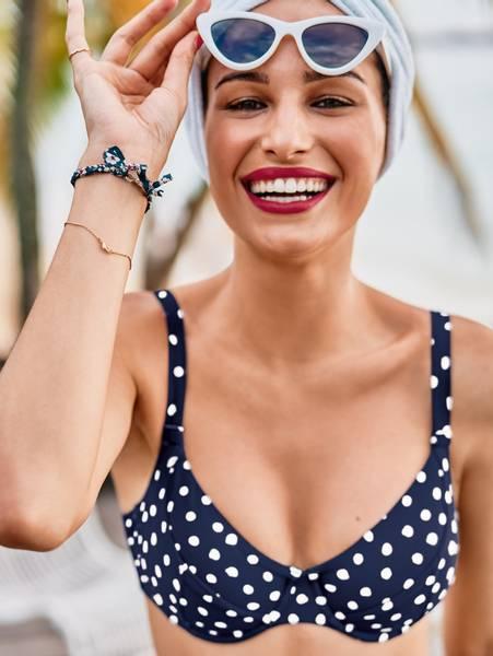 Bilde av Anita Blue Dots 3-parts Bikini, 85E og 95DE igjen