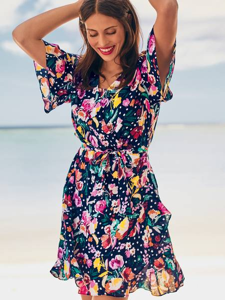 Bilde av Anita French Blue Wrap Dress, Str M og L igjen