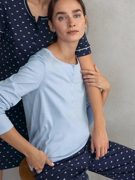 Bilde av Calida Supima Cotton Pyjamas, Str 36-50, Dark Blue