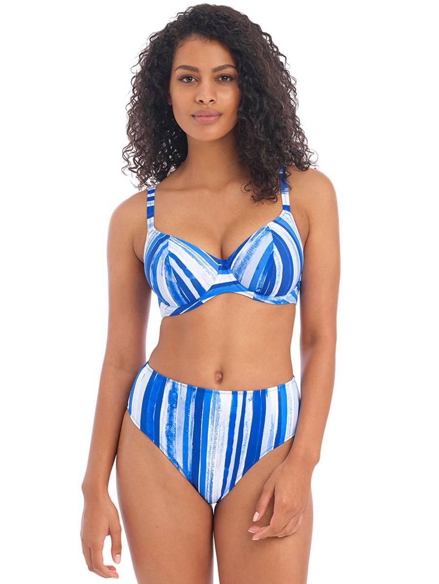 Freya Bali Bay Plunge Bikini, D-L Cup/70-85, Blue