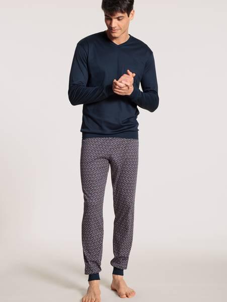 Bilde av Calida Premium Cotton Pyjamas, Str S-XXL, Sapphire
